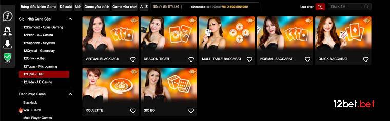 12Opal – Ebet - 12bet casino online