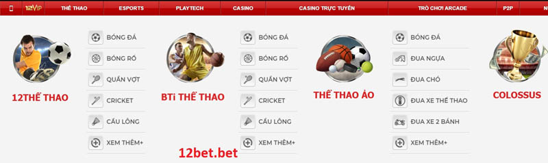 12bet the thao