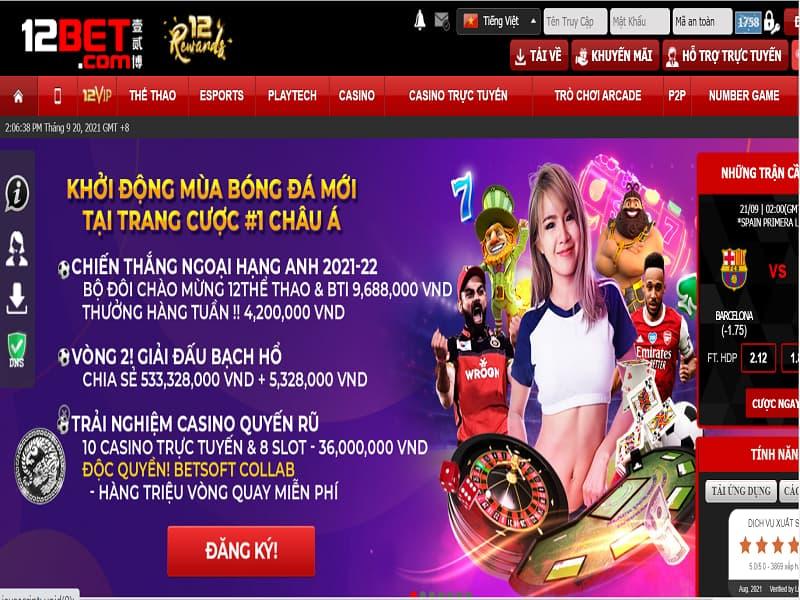 Casino trực tuyến 12bet