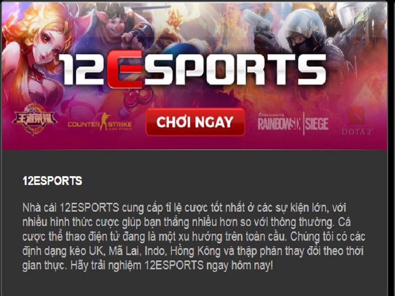 Cá cược esport 12bet