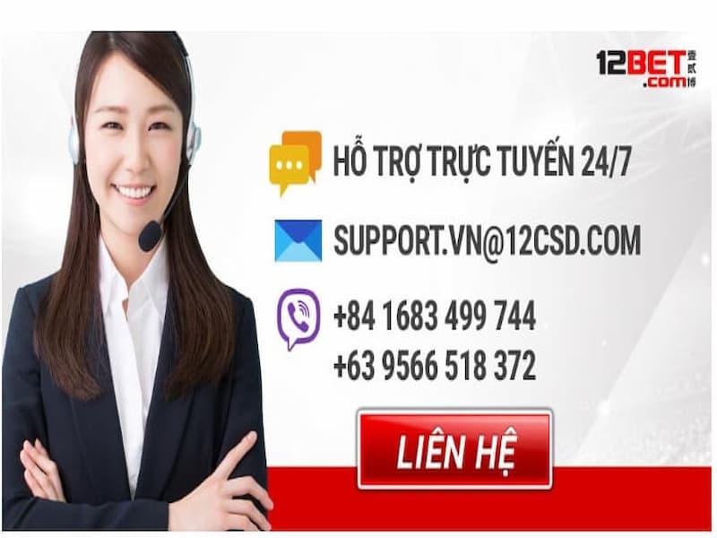 hỗ trợ trực tuyến 12bet